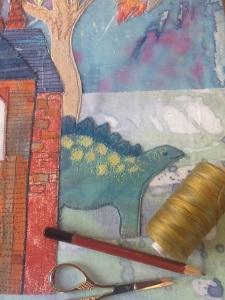 Dinosaur detail