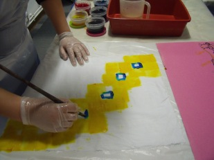 Fabric dyeing and painting