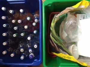 Dye bottles